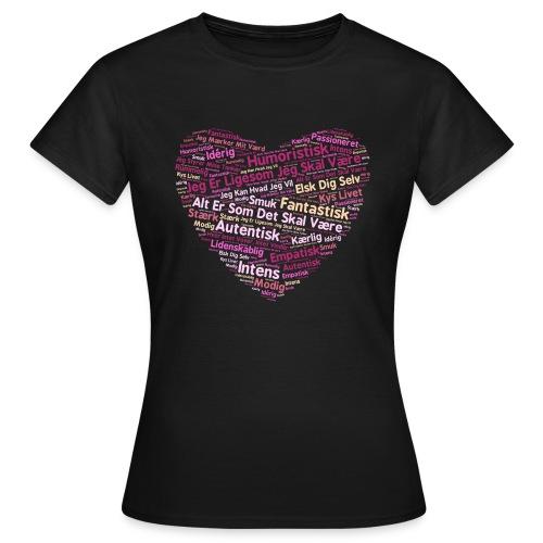 Hjerte - Dame-T-shirt