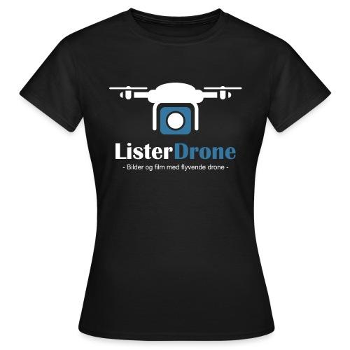 ListerDrone logo - T-skjorte for kvinner