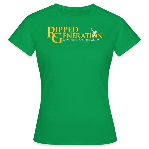 Ripped Generation Tekstilogo Kulta - Naisten t-paita