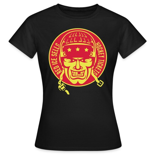 red_ice_sells_hockey_tick - Women's T-Shirt