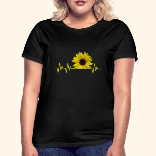 sunflowerbeat - zauberhafte Sonnenblume - Frauen T-Shirt