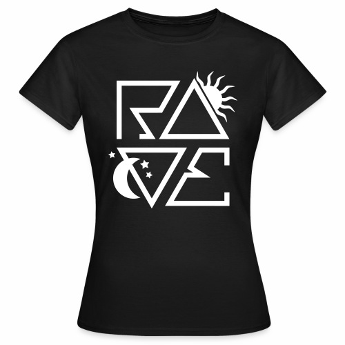 RAVE Day n Night Afterhour Clubbing Techno Party - Frauen T-Shirt