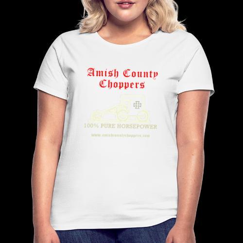 Amish County Choppers Horsepower - Women's T-Shirt