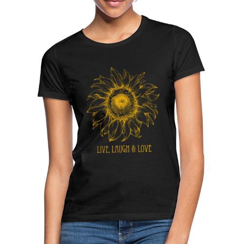 Sonnenblume Zeichnung - Frauen T-Shirt