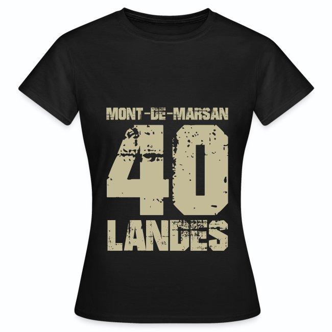 France Aquitaine Landes 40 Mont de Marsan   Dame T shirt
