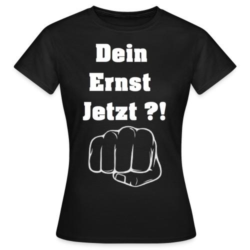 Faust mit Spruch 2 schwarzes TShirt gif - Frauen T-Shirt