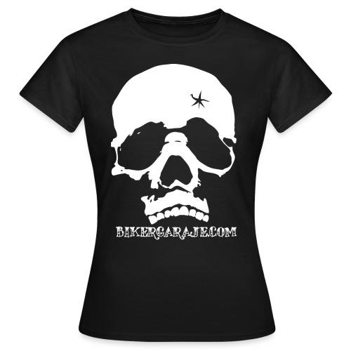 calavera biker garaje 300 png - Camiseta mujer