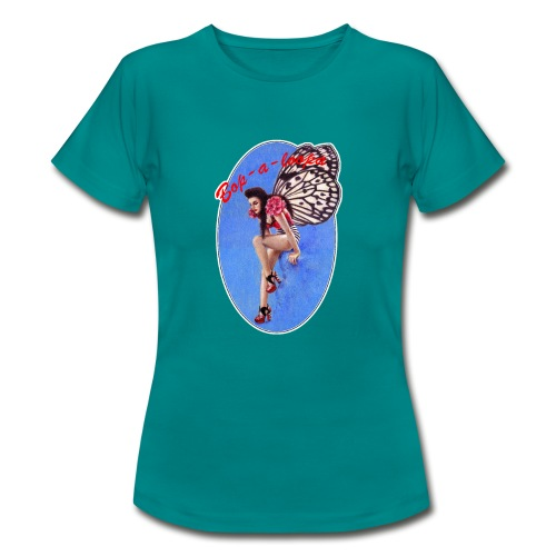 Vintage Rockabilly Butterfly Pin-up Design - Women's T-Shirt