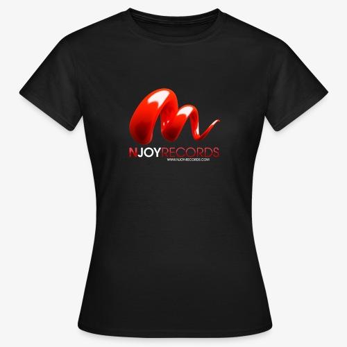 Logo Njoy Records Blanc - T-shirt Femme