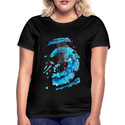 cerf aqua - T-shirt Femme