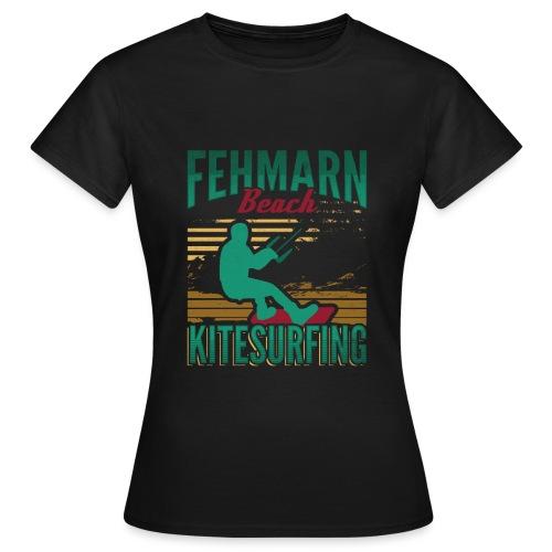 Kitesurfing Fehmarn - Frauen T-Shirt