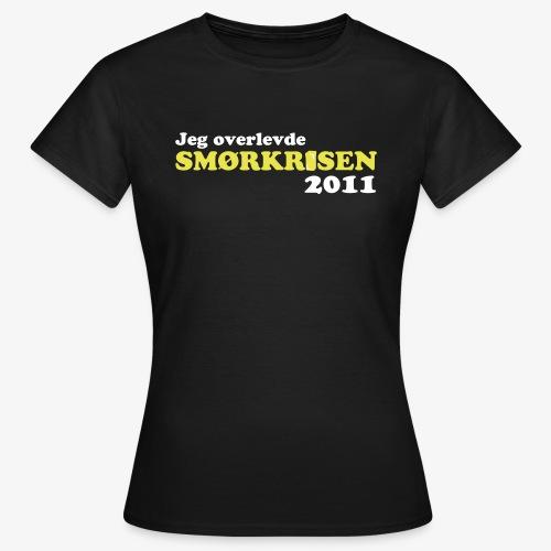 Smørkrise 2011 - Norsk - T-skjorte for kvinner