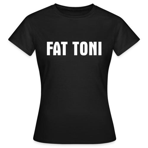 FAT TONI Logo weiss - Frauen T-Shirt