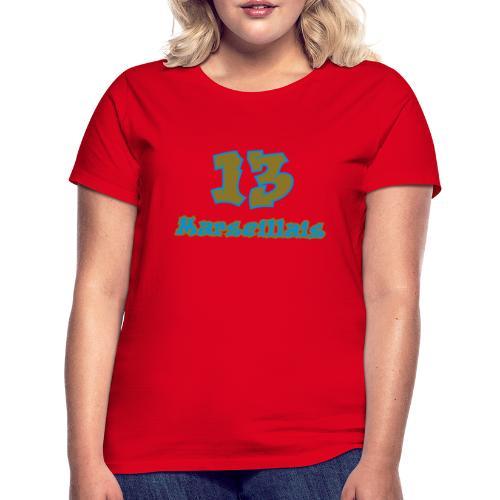 fier marseille blanc 03 - T-shirt Femme