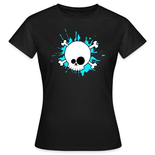 SKULL SPLASH BLEU - T-shirt Femme