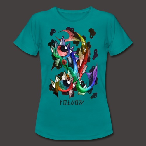 Poisson multi-color - T-shirt Femme