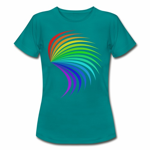 Kolorowe skrzydło - Koszulka damska