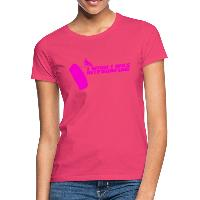 I Wish I Was Kitesurfing - Pink - Women's T-Shirt - azalea