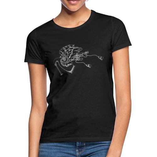 Geflügelte Bagpipe (wie silber) - Frauen T-Shirt