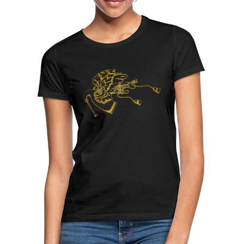Geflügelte Bagpipe (wie gold) - Frauen T-Shirt