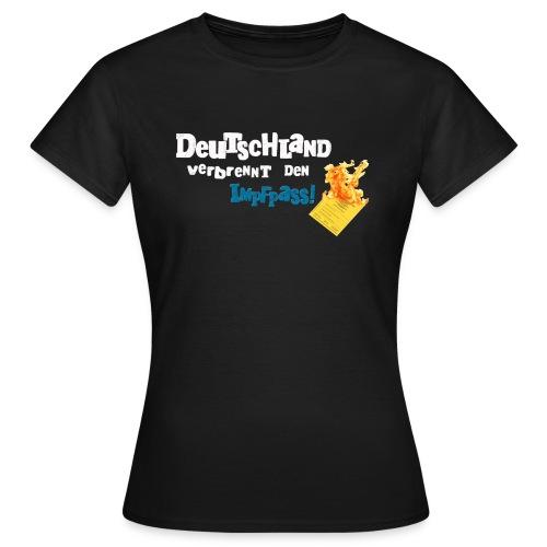 Schrift und Pass 300P png - Frauen T-Shirt