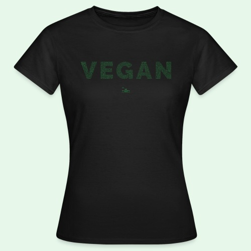 Vegan - Green - T-shirt dam