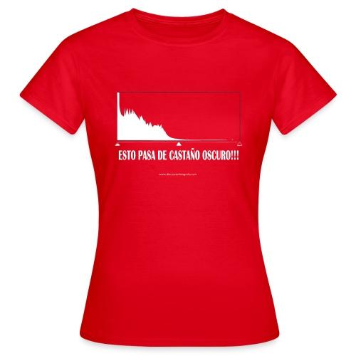 Esto pasa de castaño oscuro - Camiseta mujer