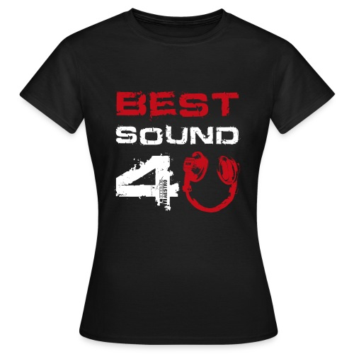 best sound 4u 835d txt white hp red - Women's T-Shirt