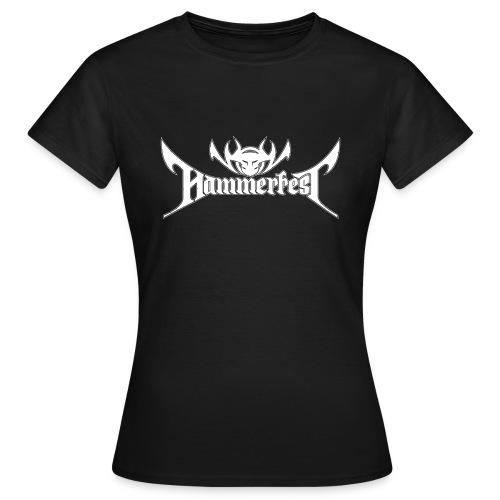 Hammerfest Logo Weiss - Frauen T-Shirt