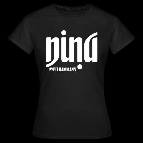 Ambigramm Nina 01 Pit Hammann - Frauen T-Shirt