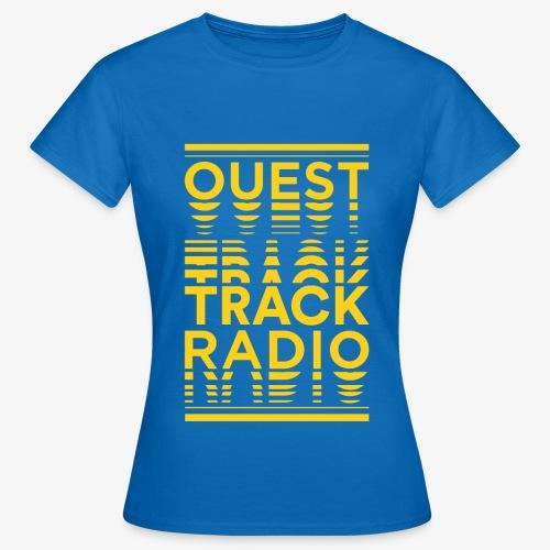Logo Vertical Grand Jaune - T-shirt Femme