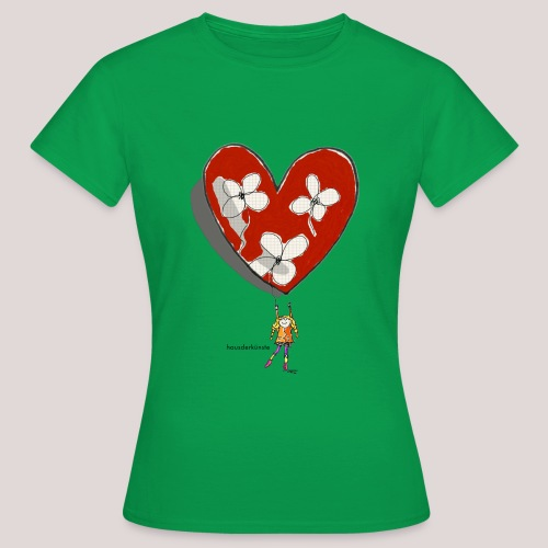 little girl with heart - Maglietta da donna