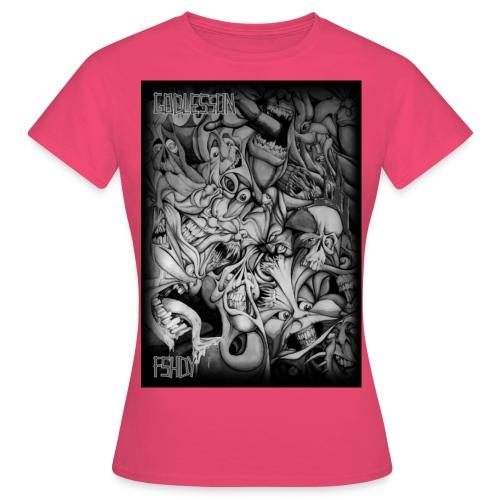 mustavalkoinen paitakuva - Naisten t-paita