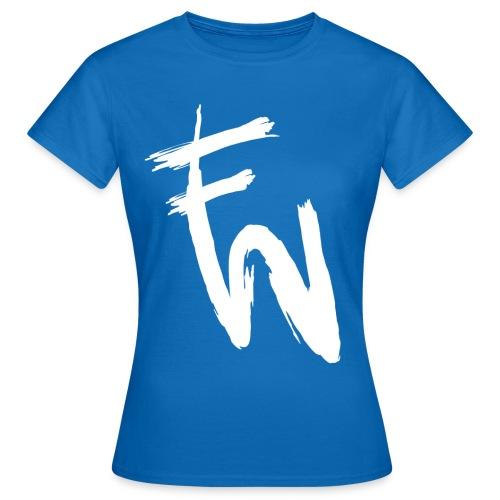 FW vitt tryck - T-shirt dam
