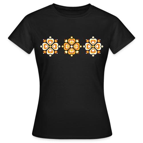 Retro Herzen fröhliche Blumen Vintage Valentinstag - Women's T-Shirt