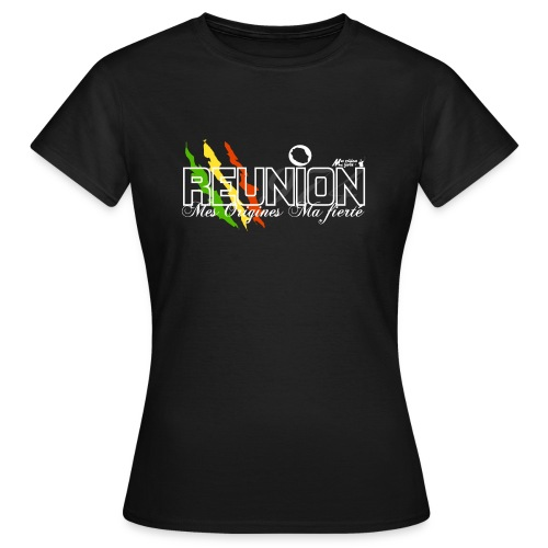 runion noir png - T-shirt Femme