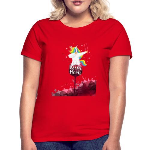 Weinhorn Splash Einhorn Design - Frauen T-Shirt