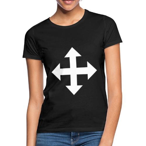 Pfeile oben unten links rechts weiss - Frauen T-Shirt