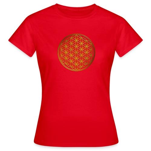 Flower of life GOLD - Vrouwen T-shirt