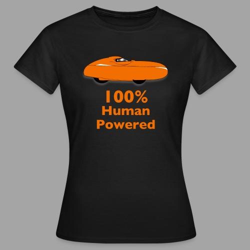 100% human powered - Naisten t-paita
