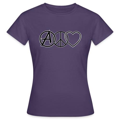 ANARCHY PEACE & LOVE - Women's T-Shirt