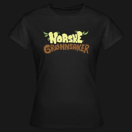 'Norske Grønnsaker' - T-skjorte for kvinner