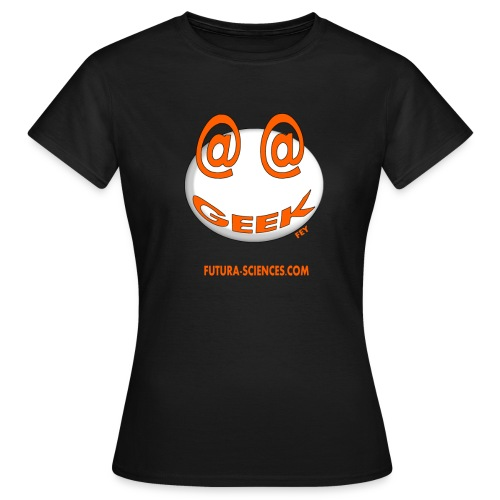 geek arobase orange - T-shirt Femme