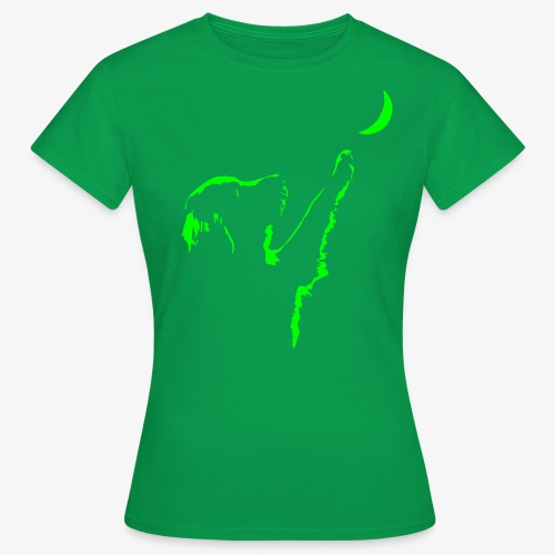 dog moon - Frauen T-Shirt