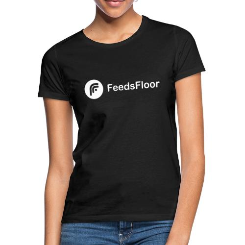 FeedsFloor Horizon - white logo - Women's T-Shirt