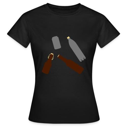 Flaschen und Dose - Frauen T-Shirt
