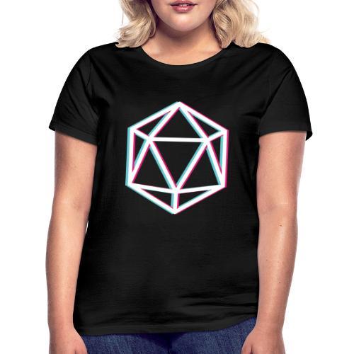 3D D20 weiß - Women's T-Shirt