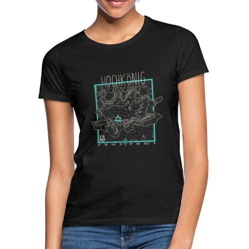 Hochkoenig Contour Lines - Square - Women's T-Shirt
