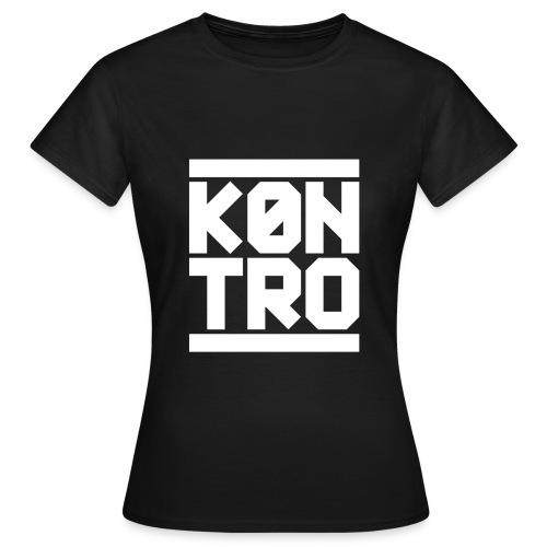 KONTRO White Logo - Naisten t-paita