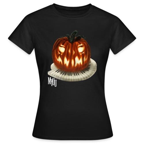 Piano Pumpkin - Frauen T-Shirt